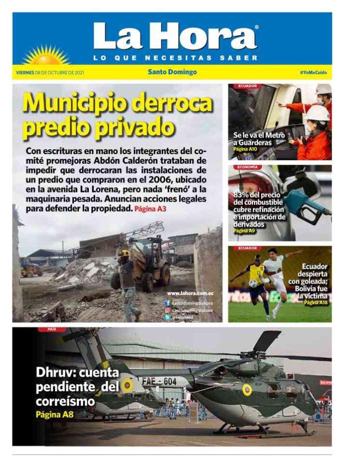 Santo Domingo: 08 de octubre, 2021