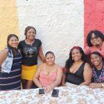Karool Argüello, Jéssica Tenorio, Nohelia Rodas, Karen Cortez, Maira Mina y Brayner Bautista.