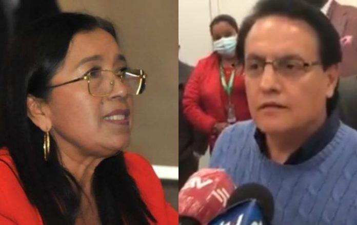 HECHO. La presidenta Guadalupe Llori y el asambleísta Fernando Villavicencio sigue la discordia
