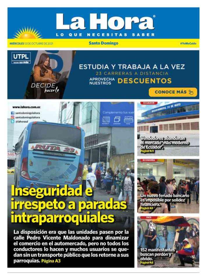 Santo Domingo: 13 de octubre, 2021