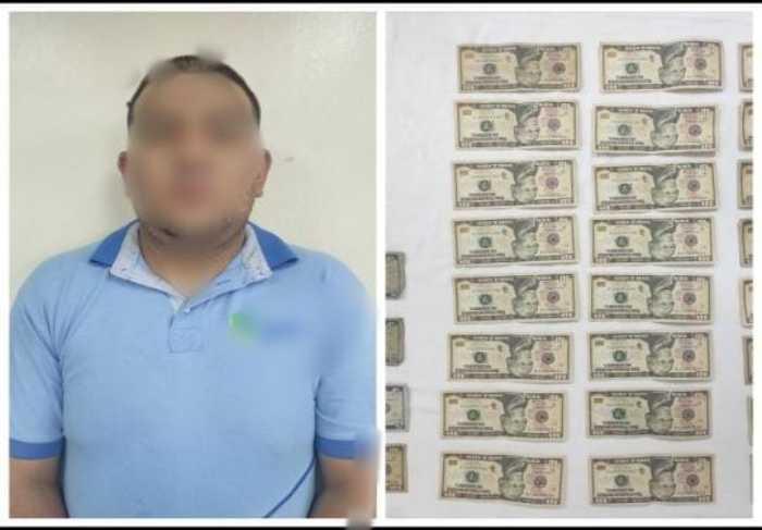 Evidencias. La policía decomisó el dinero y celular del involucrado.